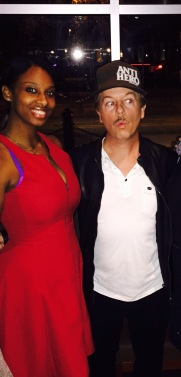 Met David Spade on my birthday in BCBG